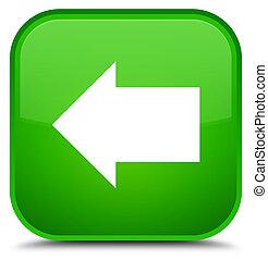 Back arrow icon special green square button