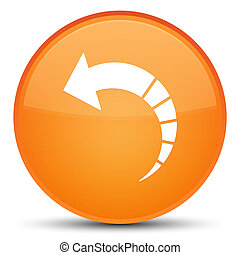 Back arrow icon special orange round button