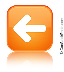 Back arrow icon special orange square button