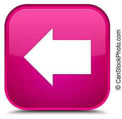 Back arrow icon special pink square button