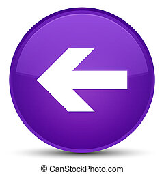 Back arrow icon special purple round button