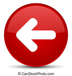 Back arrow icon special red round button