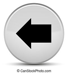 Back arrow icon special white round button