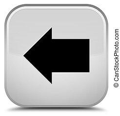 Back arrow icon special white square button