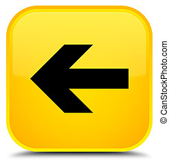 Back arrow icon special yellow square button