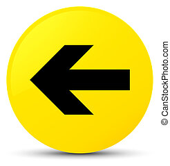 Back arrow icon yellow round button