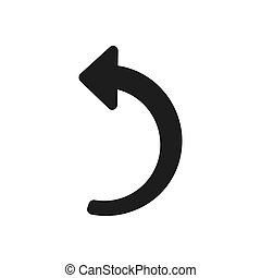 Back arrow vector icon in modern design style for web site and mobile app