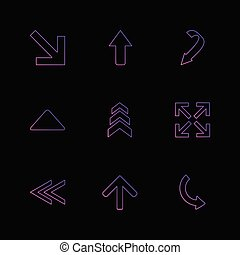 back , arrows , directions , left , right , pointer ,eps icons set vector