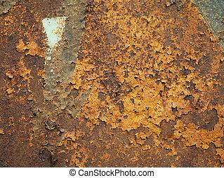 Back background of rusty iron