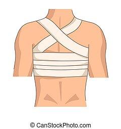 Back bandage injury or trauma posture medical bandaging first aid