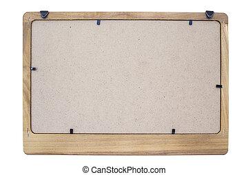 Back blank blackboard isolated on white background.