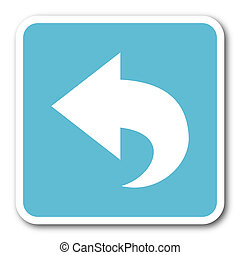 back blue square internet flat design icon