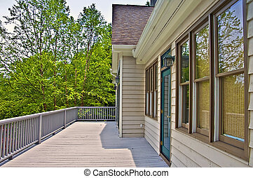 Back Deck of House
