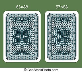 Back designs playing card.