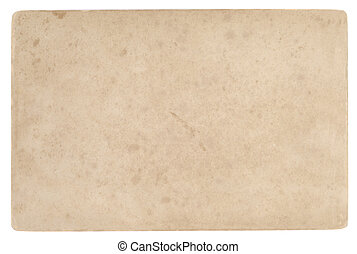 Old stained sheet of paper isolated over white background
