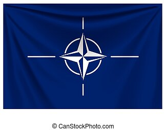 back flag nato - illustration of realistic flag of nato...