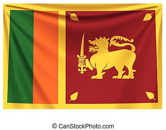 back flag sri lanka