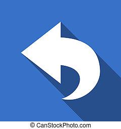 back flat icon arrow sign
