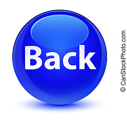 Back glassy blue round button