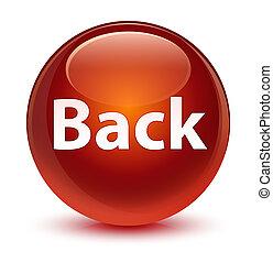Back glassy brown round button