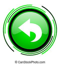 back green circle glossy icon