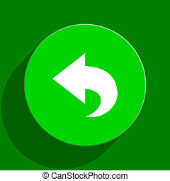 back green flat icon