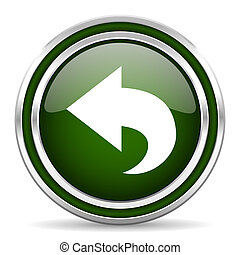 back green glossy web icon