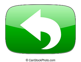 back green icon arrow sign