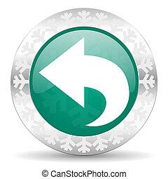 back green icon, christmas button, arrow sign