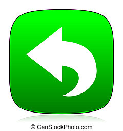 back green icon for web and mobile app