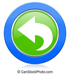 back icon arrow sign