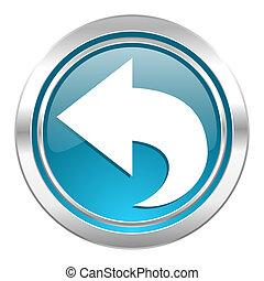 back icon, arrow sign