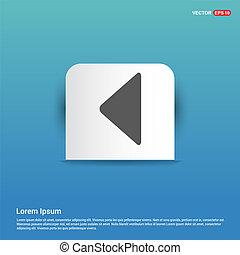 Back Icon - Blue Sticker button