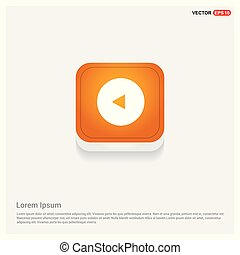 Back Icon Orange Abstract Web Button