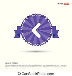 Back Icon - Purple Ribbon banner