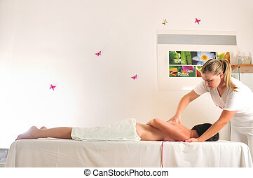 back massage at the spa and wellness center - massage at the...