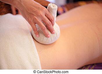 back massage close up