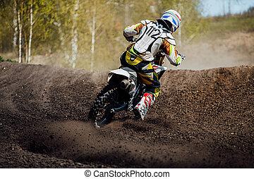 back motocross rider