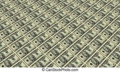 back of 10 dollar bills,Printing Money Animation.