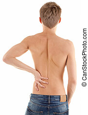 back of a naked male torso