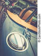 Back of a vintage car