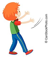 Back of boy with red hair