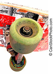 skateboard - back of old skateboard