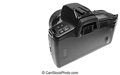 Back of SLR camera