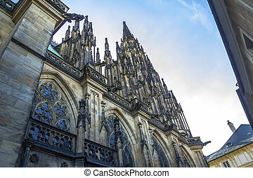 Back of St. Vitus Cathedral in Prague
