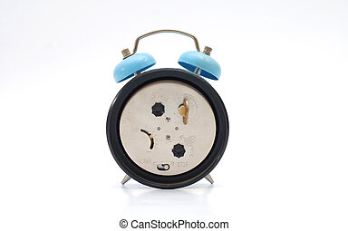 Back of vintage alarm clock