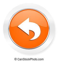 back orange computer icon
