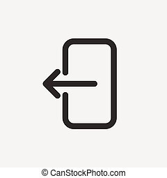 back outline icon