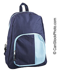 Back Pack - Blue back pack with clipping path