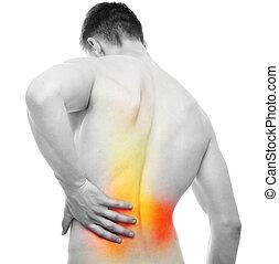 Back Pain - Studio shot isolated on white
